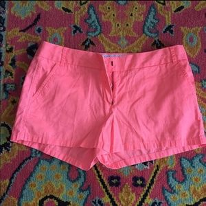 Pink J crew Chino cotton broken in shorts size 6